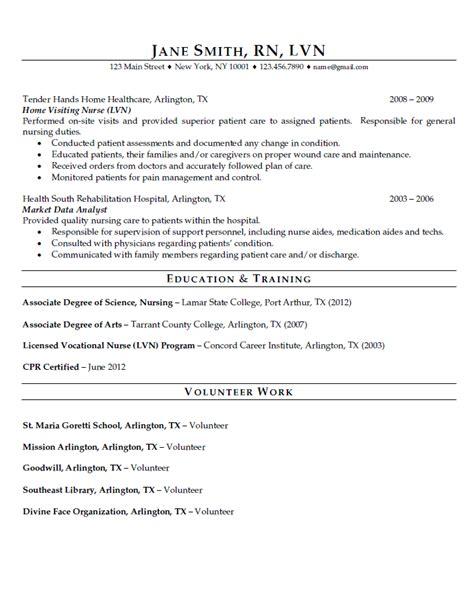 Sample resume registered nurse position best place to get
