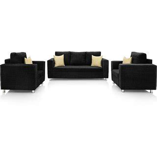 cushion sofa set 311 westido sofa set in black fabric 3 1 1 buy westido sofa