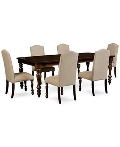 Kelso 7 Pc Dining Set Dining Table 6 Side Chairs Macys Dining Table