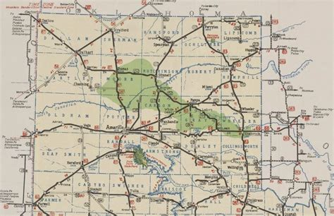 map of texas amarillo history of amarillo texas 1939 1941 route maps of amarillo the panhandle