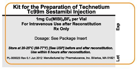 Preparation For 03 Of 4 kit for the preparation of technetium tc99m sestamibi pharmalucence inc