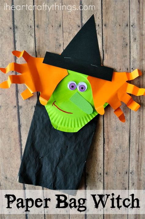 Paper Bag Crafts For Preschool - paper bag witch craft for witch craft