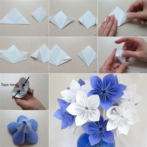 How To Make Origami Bouquet Of Flowers - 25 best ideas about origami flower bouquet on