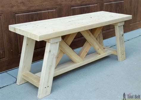 how to build benches how to build an outdoor bench with free plans
