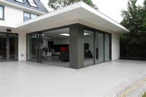 Flat Roof Overhang Exterior And Remodelling Tring Hertfordshire
