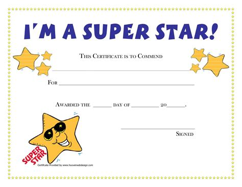student certificate template printable award certificates for students craft ideas
