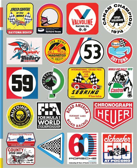 Classic Motorsport Aufkleber by Classic Go Fast Stickers Make For Cool Toolboxes