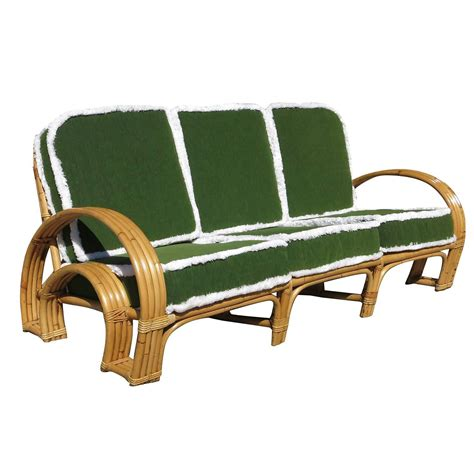 horseshoe sofa paul frankl style four strand quot horse shoe quot rattan sofa at