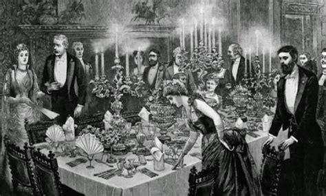 etiquette  victorian dining