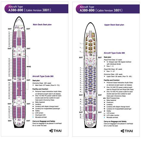 thai air a380 seat map thai a380 direct flight to bangkok thai airways