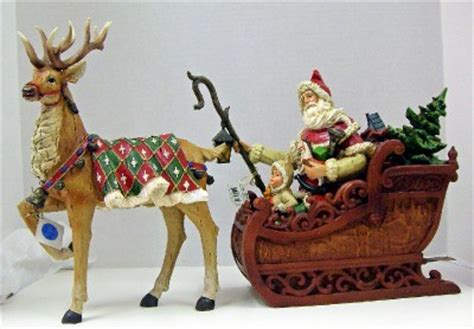 santa s sleigh toys reindeer 2 piece table top decoration