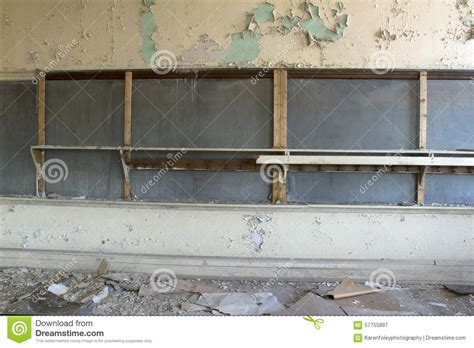 chalkboard paint peeling classroom in decay stock photo image 57755897