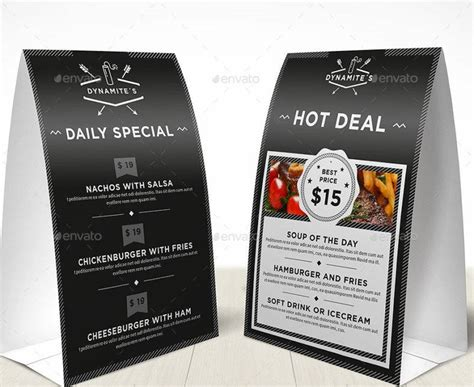 Restaurant Tent Card Template by 14 Restaurant Tent Card Designs Templates Psd Ai