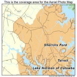 aerial photography map of sherrills ford nc carolina