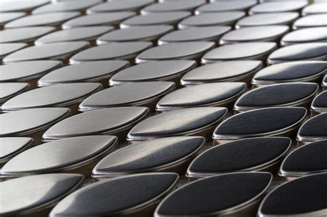 Metal Tiles 10 95 Free Shipping Oval Stainless Steel Tiles Metal Mosaic