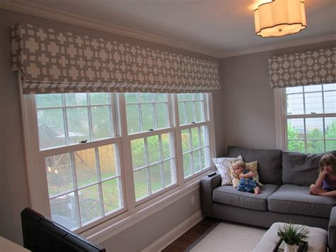different window treatments unique drim shaped pendant ls with valances for adorable family room ideas with grey