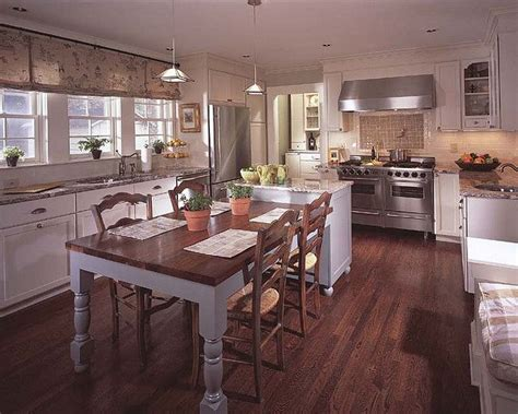 kitchen island with attached table attached island and dining table for the home
