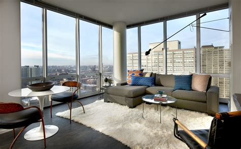 Open Kitchen Living Room Floor Plans by Gallery Apartments With Balconies In Downtown Chicago