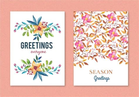 Floral Greeting Cards Designs