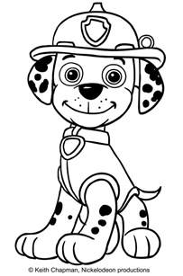 paw patrol marshall coloring coloring pages