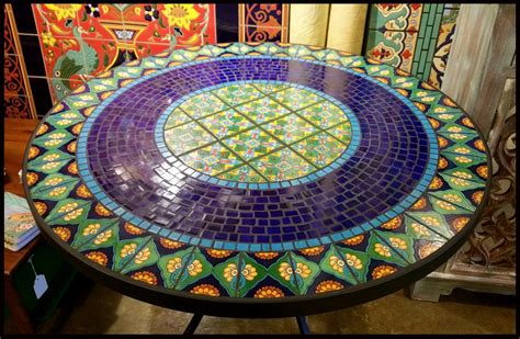 Design For Mosaic Patio Table Ideas Image Gallery Mosaic Tables