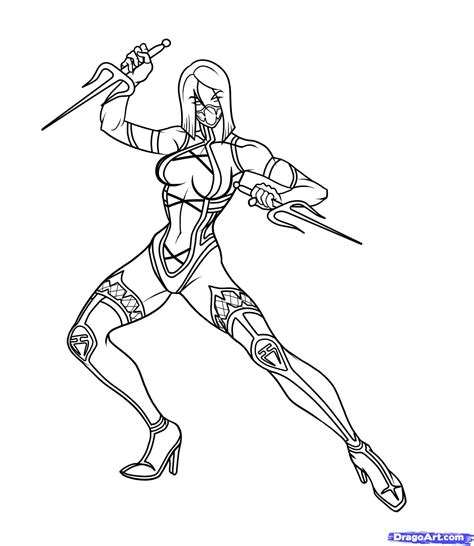 mortal kombat coloring pages mortal kombat coloring pages free large images