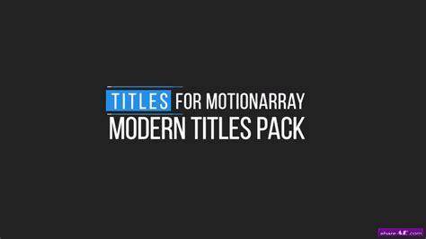 Minimal Motion Titles Premiere Pro Templates 187 Free After Effects Templates After Effects Motion Title Templates