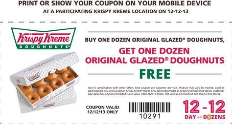 Krispy Kreme Bogo Free Dozen Printable Coupon