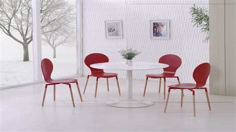 Gloss White Dining Table And Chairs White Gloss Dining Table And 4 Pu Chairs Homegenies