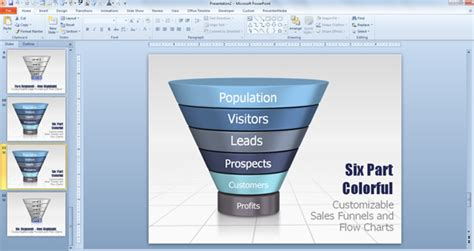 create a funnel diagram in powerpoint using smartart