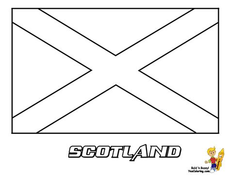 Scotland Flag Coloring Page Scotland Flag Colouring Pages With Names