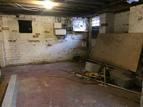 basement conversion in roundhay for work space shower