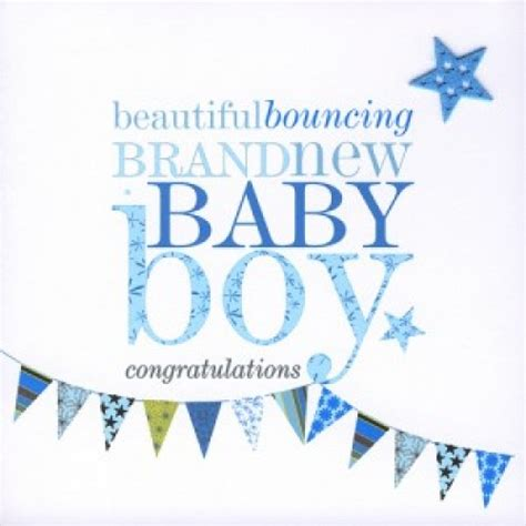 Baby Gift Cards - beautiful bouncing baby boy gift card