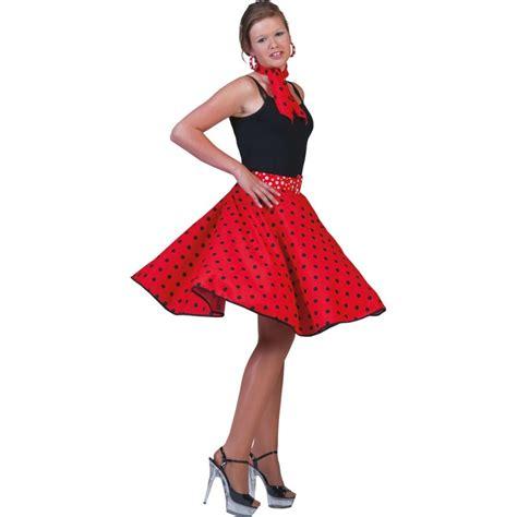 Rok Polka Pink rock n roll spaanse rok polka rood zwart jokershop