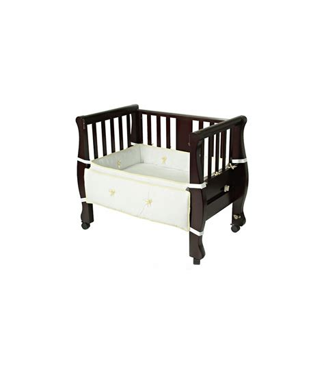 Co Sleeper Mattress Size by Arms Reach The Co Sleeper Sleigh Bed Bassinet Espresso