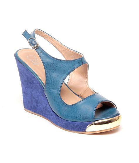 imported sandals heelz casual imported platform heel sandals blue price in