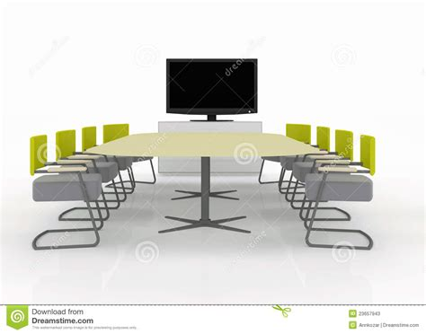 Conference Room Tv by Meeting Room With Tv On A White Backgroun Stock Photos