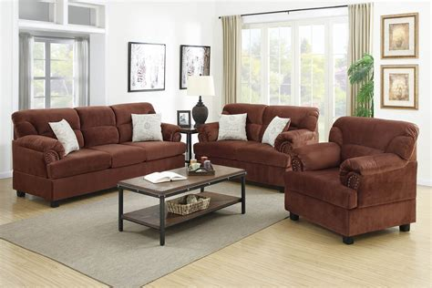 fiber sofa set 3 piece chocolate miro fiber suede sofa set
