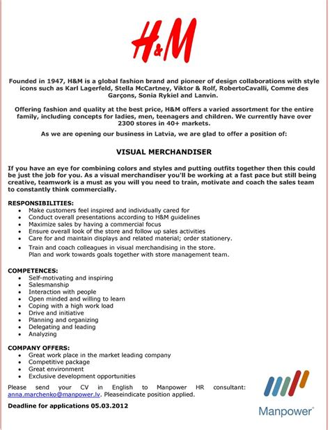 Application Letter Visual Merchandiser visual merchandiser cover letters hvac cover letter