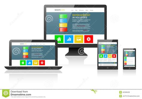 html layout recommendations for mobile devices responsive web design for different devices vector