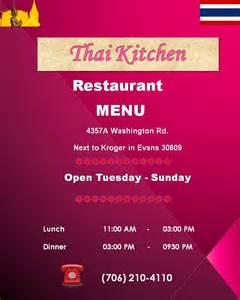 thai kitchen menu menu for thai kitchen augusta urbanspoon zomato