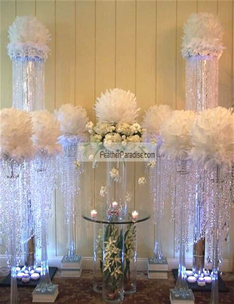 14 inches feather ball centerpieces ball large decorate