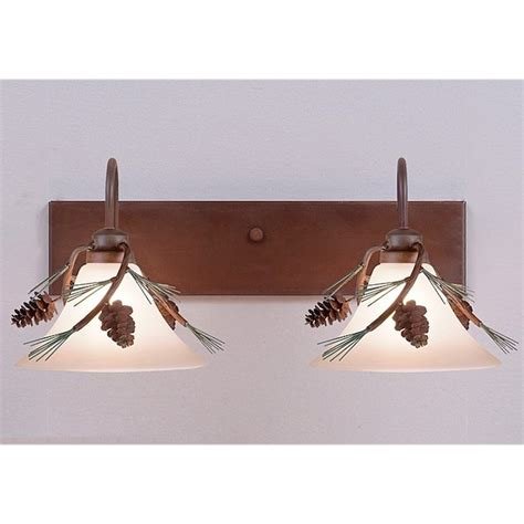 Cabin Vanity Lights Cedarwood Pine Cone Vanity Lights