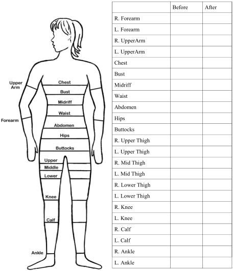 7 amazing fat destroying smoothies body measurement chart body