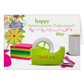 Administrative Assistant Card Template by Administrative Assistant Cards Zazzle