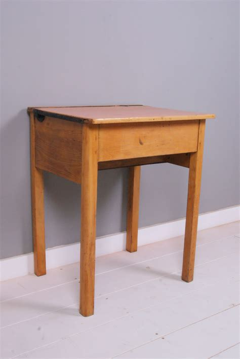 School Desks Uk by Children S Vintage Single Wooden School Desk With Lift Up
