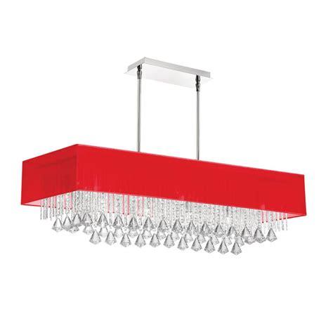 Rectangular Chandelier With Shade Rectangular Organza Shade Chandelier Light Fixtures Design Ideas