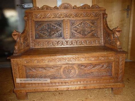 alte truhenbank truhenbank gr 252 nderzeit eiche hell massiv 1890