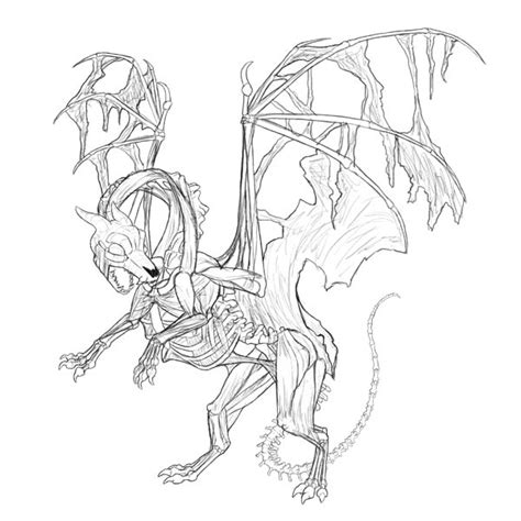 line drawing sketches create concept painting in adobe photoshop