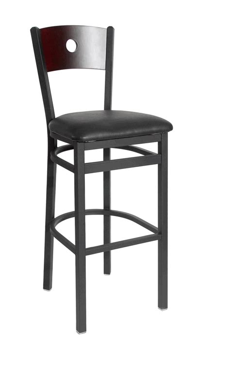 commercial bar stools with backs commercial circle back bar stool bar restaurant